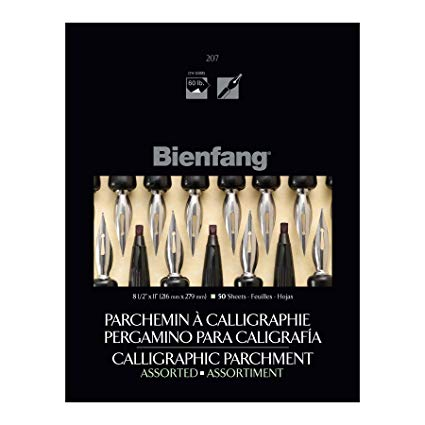 BIENFANG CALLIGRAPHY PAD 50 SHEETS ASSORTED 8.5