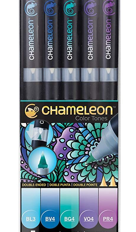 CHAMELEON COOL TONES ALCOHOL BASED INK 5 PEN SET Thumbnail