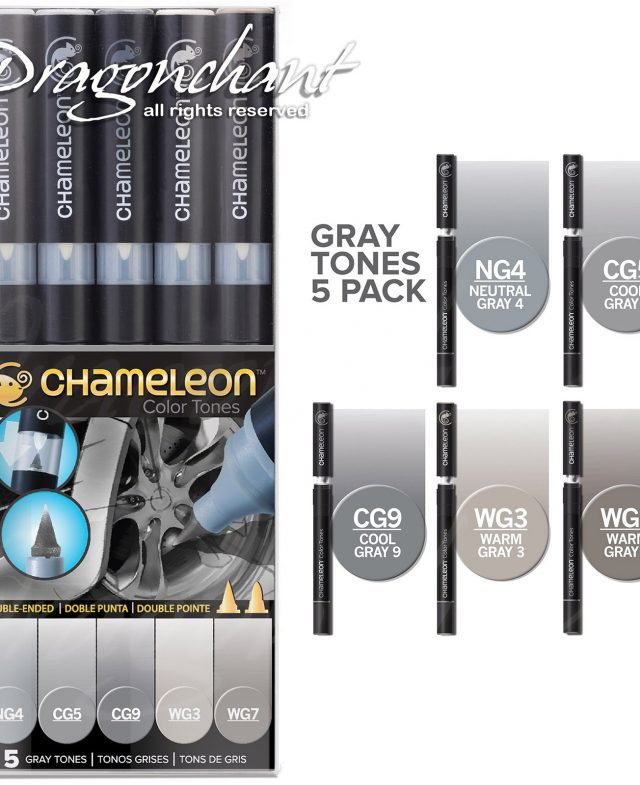 GRAY TONES ALCOHOL BASED INK 5 PEN SET Thumbnail