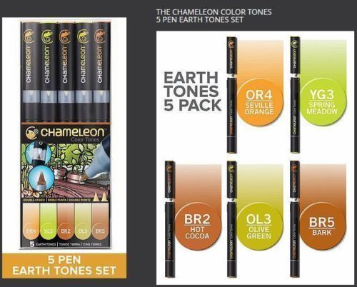 EARTH TONES ALCOHOL BASED INK 5 PEN SET Thumbnail