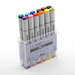 Copic Sketch 12 Colors Art Cansel Art Supplies St